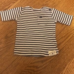 Carter's Navy and White Striped Shirt